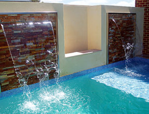 Water features painted with LUXAPOOL