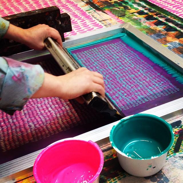 Screen printing with Permaset Aqua