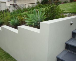 Cement Render Coatings for retaining walls