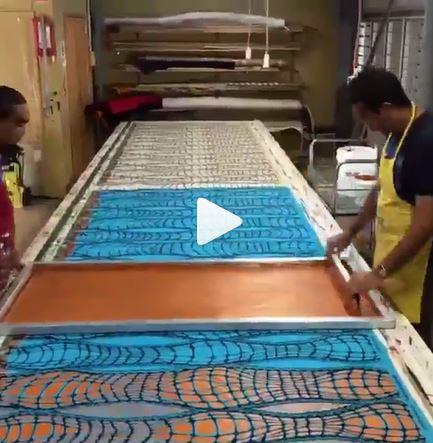 Video of printing yardage with Permaset