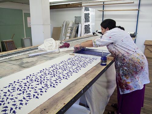 Yardage Printing using Permaset inks
